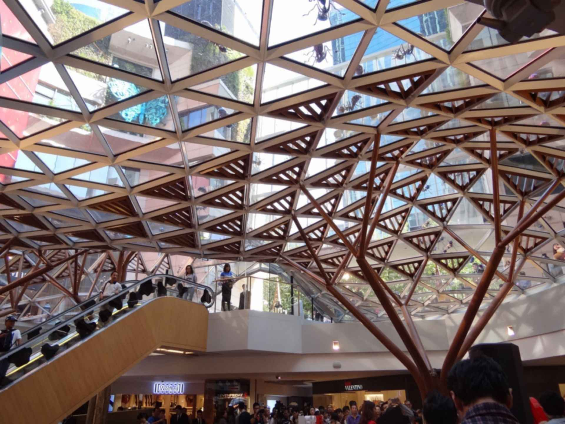 K11 Art Mall - interior glass roof