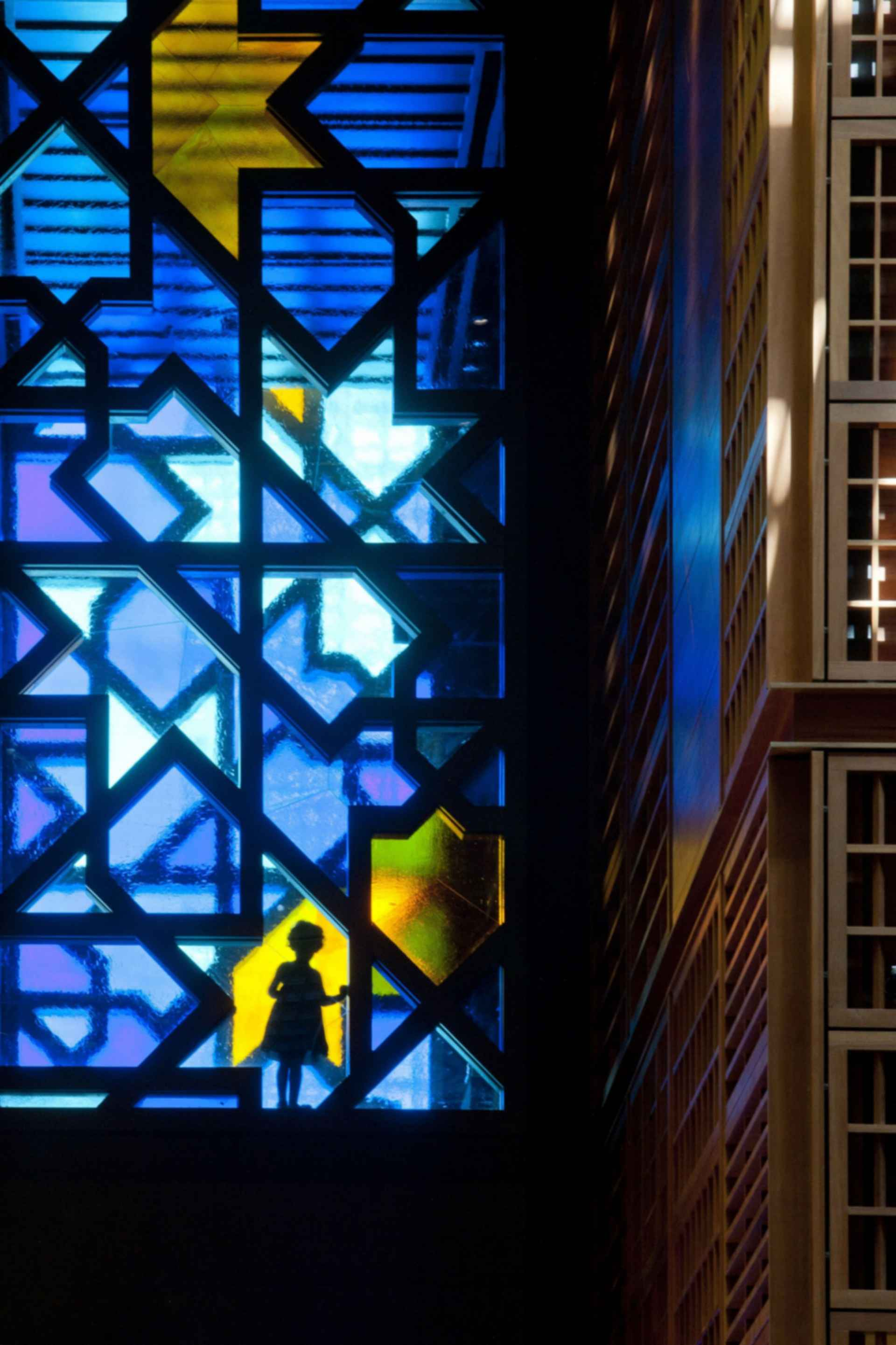 World Trade Center Souk and Mall - stained window
