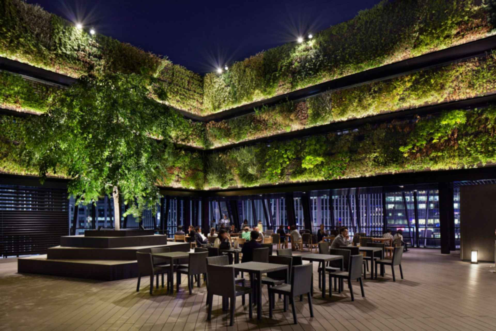 Tokyu Plaza Ginza - outdoor rooftop restaurant