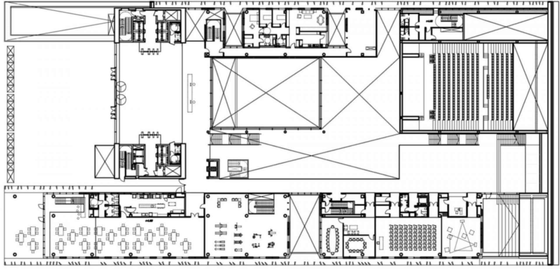 Caja de Badajoz Headquarters - floor plan