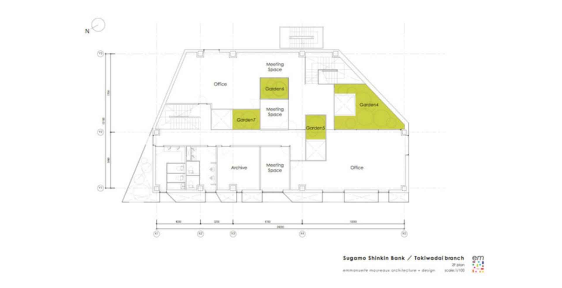 Sugamo Shinkin Bank -Tokiwadai Branch - floor plan
