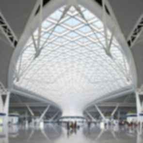 Guangzhou South Railway Station - internal skylight