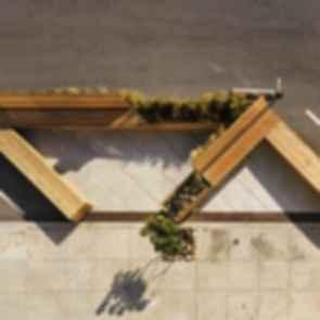 Noriega Street Parklet - Bird's Eye View