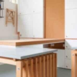 Sweetdram Workshop - fold down wall tables