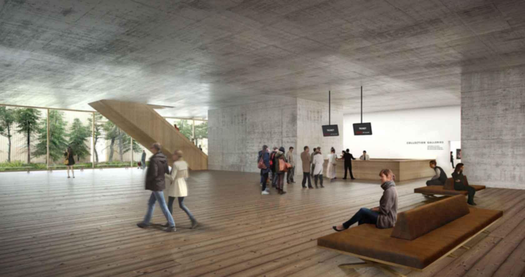 Vancouver Art Gallery - concept design interior entrance