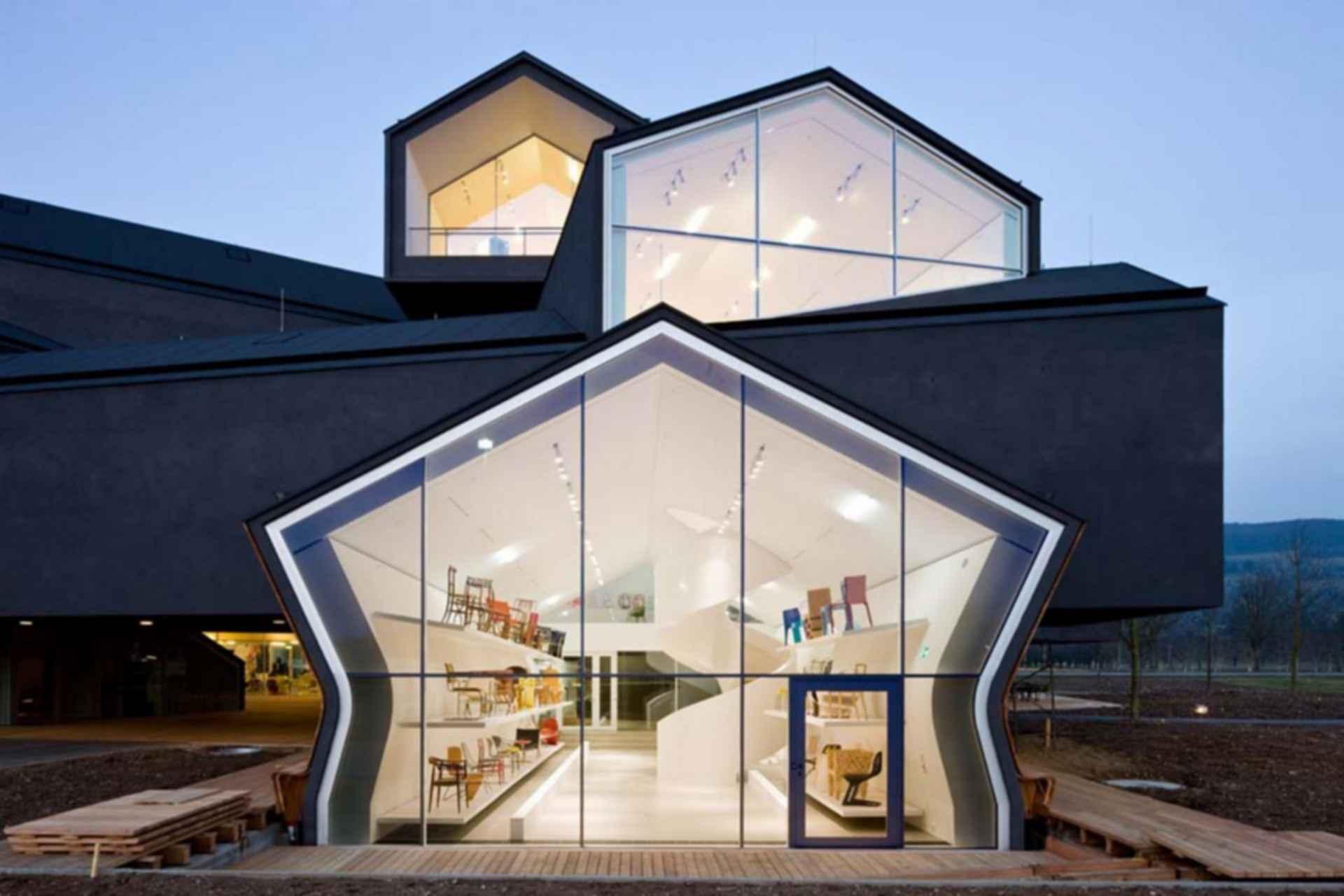 Vitra House - exterior windows