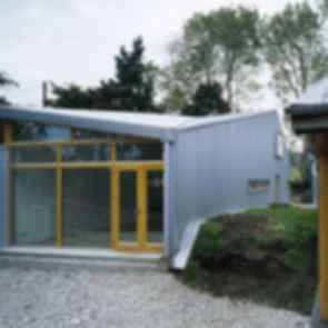 Green Box Design Studio - exterior back entrance