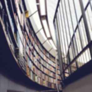 School library bookcase