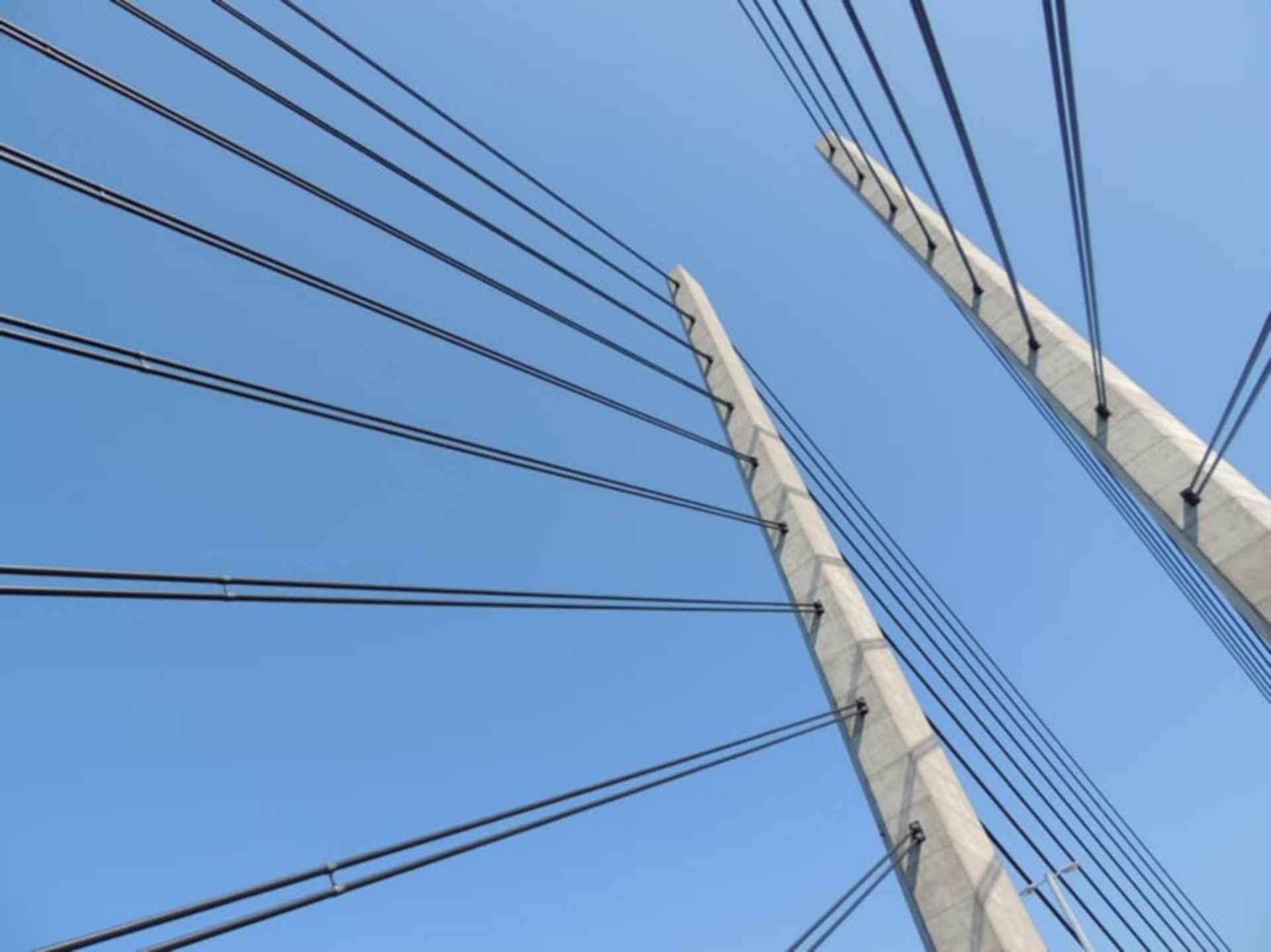 Steel-wire bridge structure