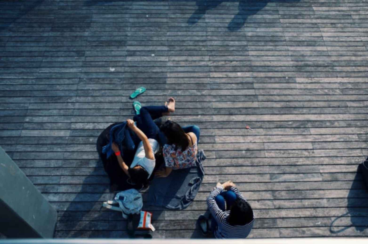Outdoor wooden flooring