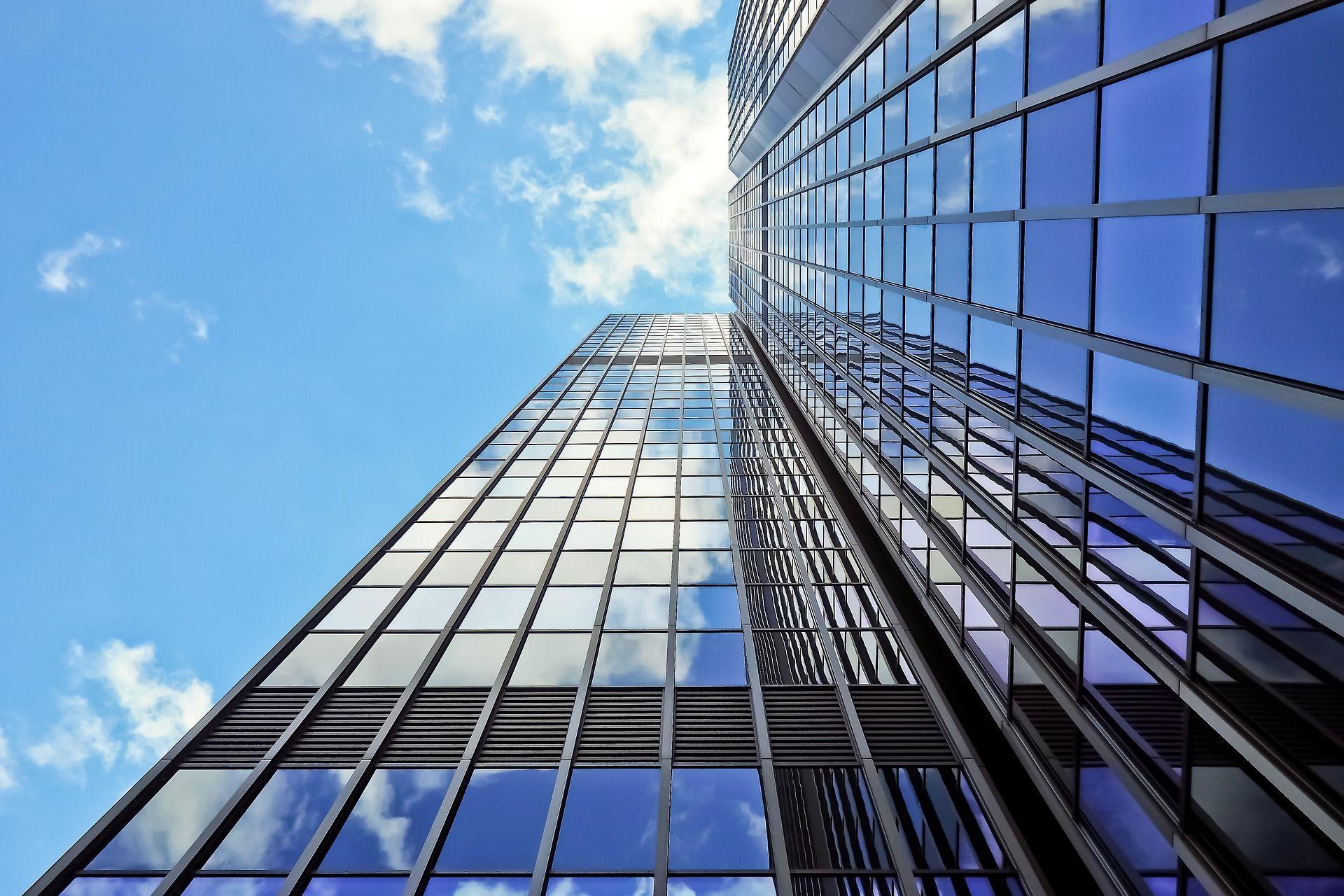 Glass skyscraper for Iphone 7 architecture