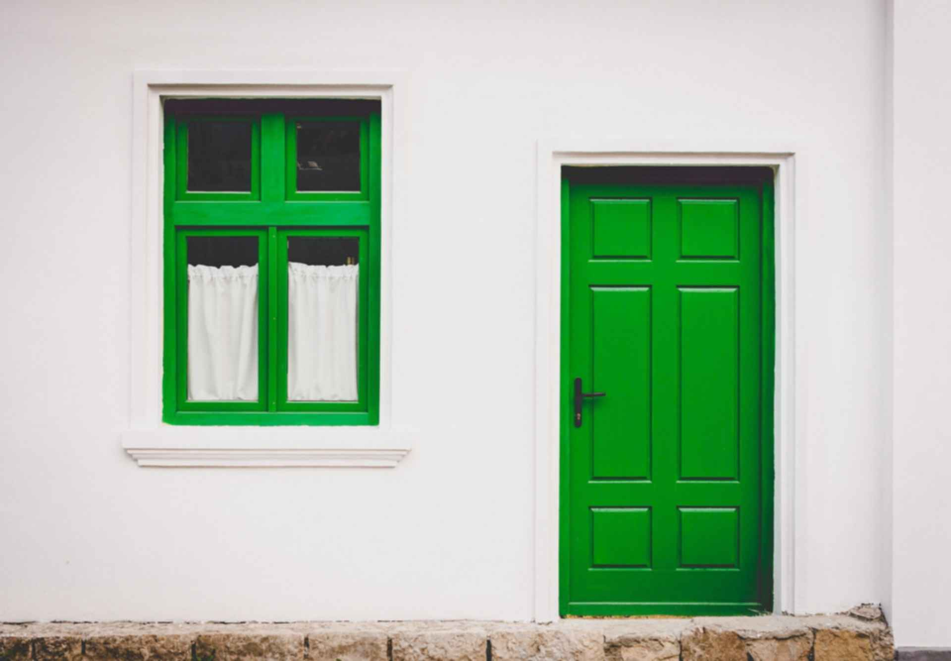 Green door - front entrance