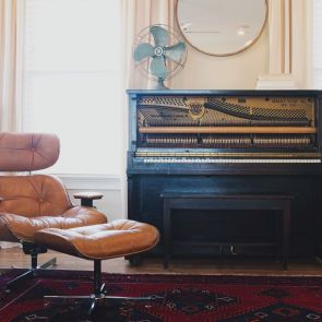 Glider chair and piano