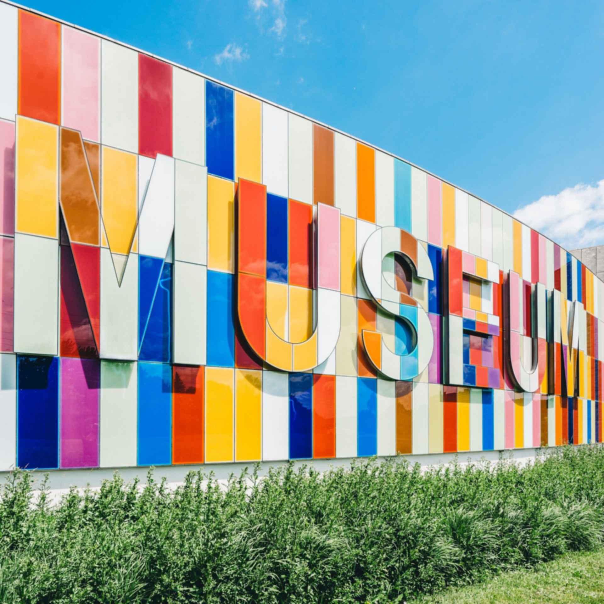 Museum - colored tile facade