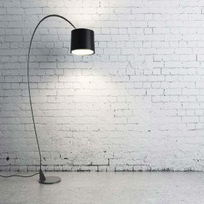 Black Torchiere Lamp