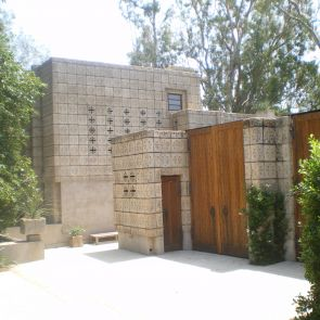 Millard House - entrance