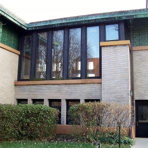 Dana Thomas House - exterior windows