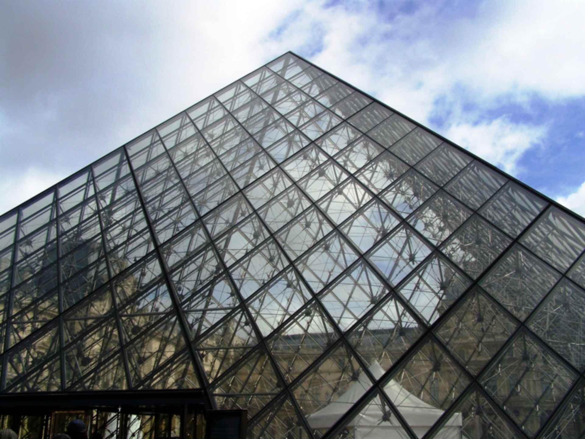 The Louvre Paris - Pyramid Detail
