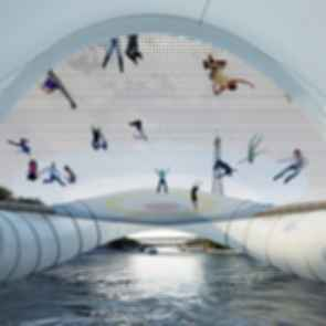 The Trampoline Bridge - View Underneath the Bridge