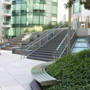 Office Building Landscaping - Bench Seat