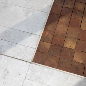 Stone and Wood Block Flooring