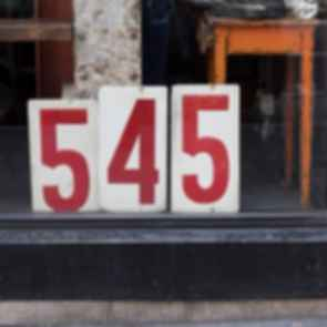 Restaurant address signage