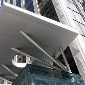 Commercial Metal Overhang