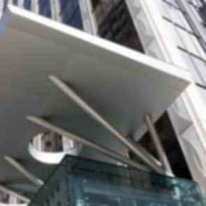 Commercial Metal Overhang
