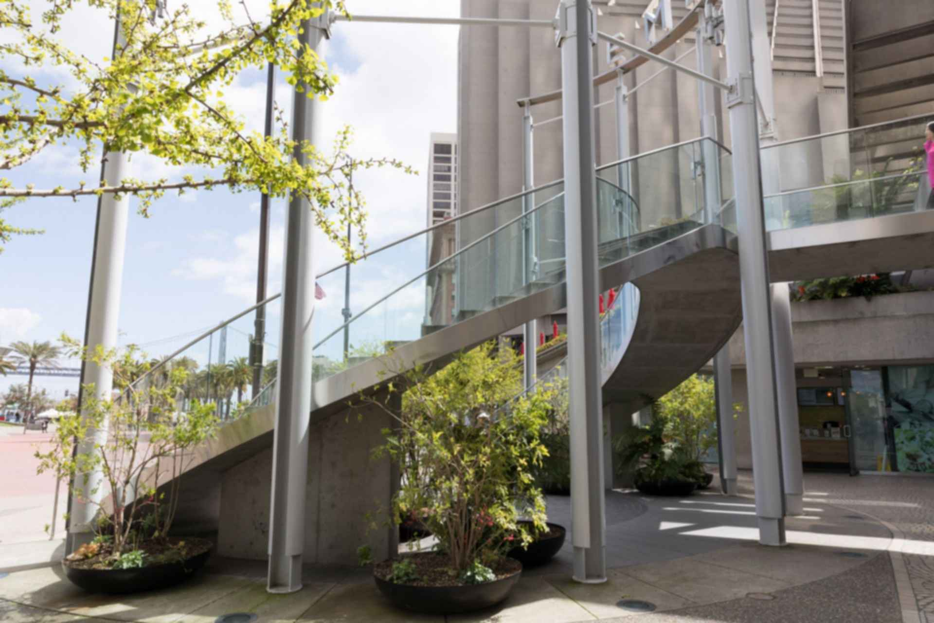 Embarcadero Center Outdoor Stairway Entrance