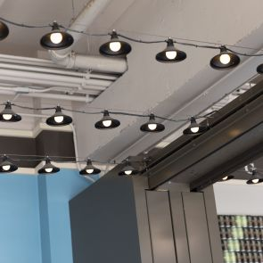 Commercial ceiling lamp detailing