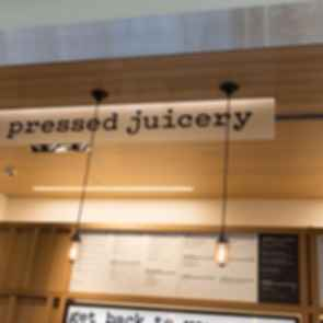 One Market Plaza Pressed Juicery Signage