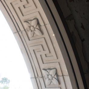 Engraved Stone Archway Details