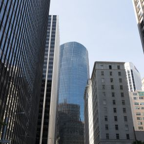 San Francisco Glass Office Buildings Streetview