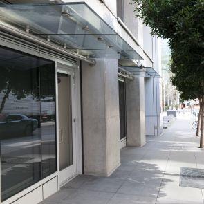 Modern Glass Overhang