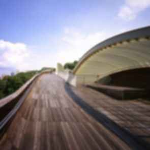 The Henderson Wave Bridge - View on the Bridge