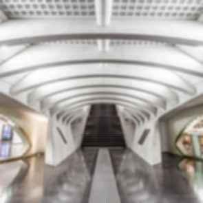 Liege-Guillemins Railway Station - interior
