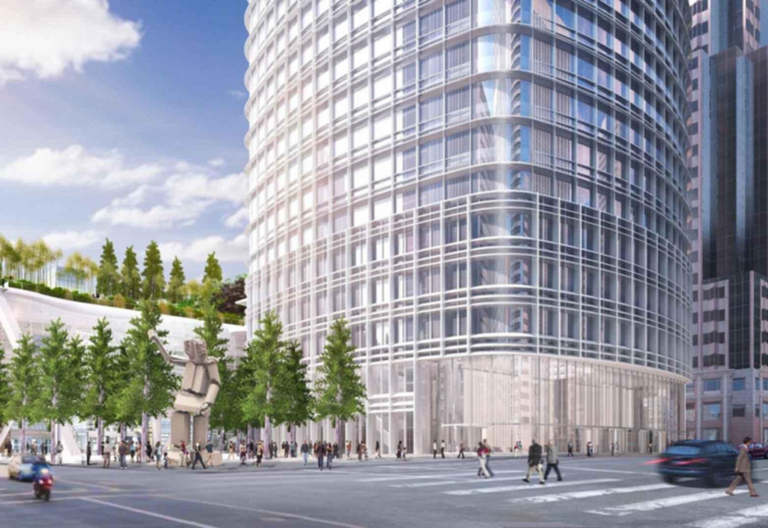 Salesforce Tower - ground concept design