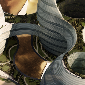 Organic Cities Concept Design - bird's eye view