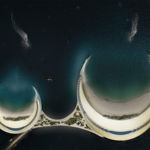 Organic Cities Concept Design - view from top