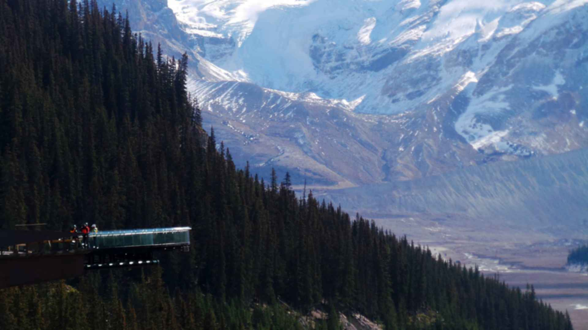 The Glacier Skywalk - View of Overhang