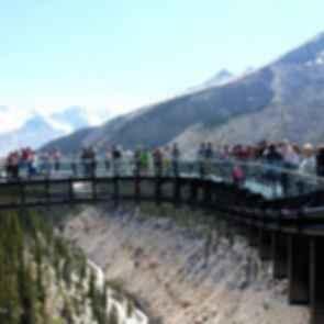 The Glacier Skywalk - Overhang