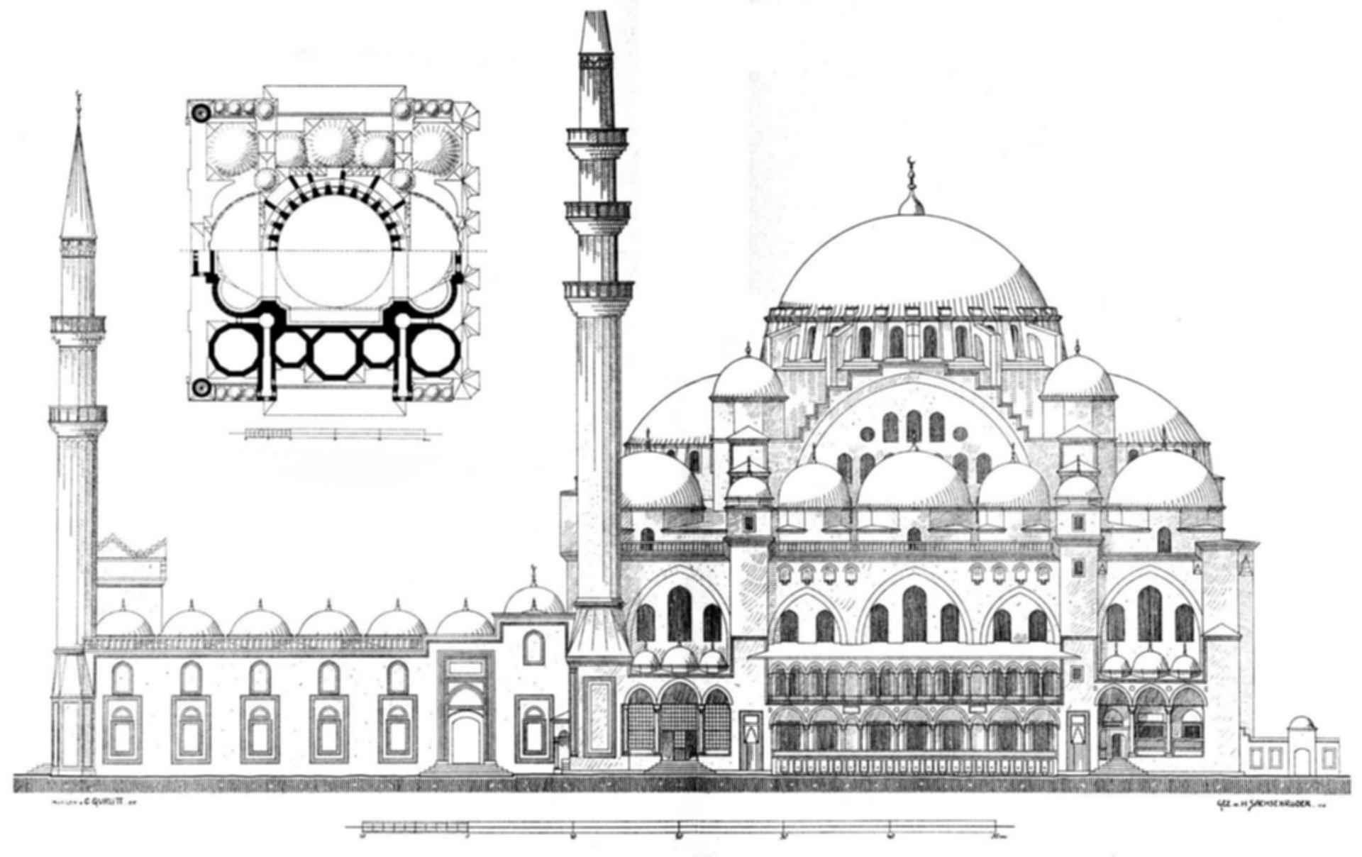 Suleymaniye Mosque - Drawing