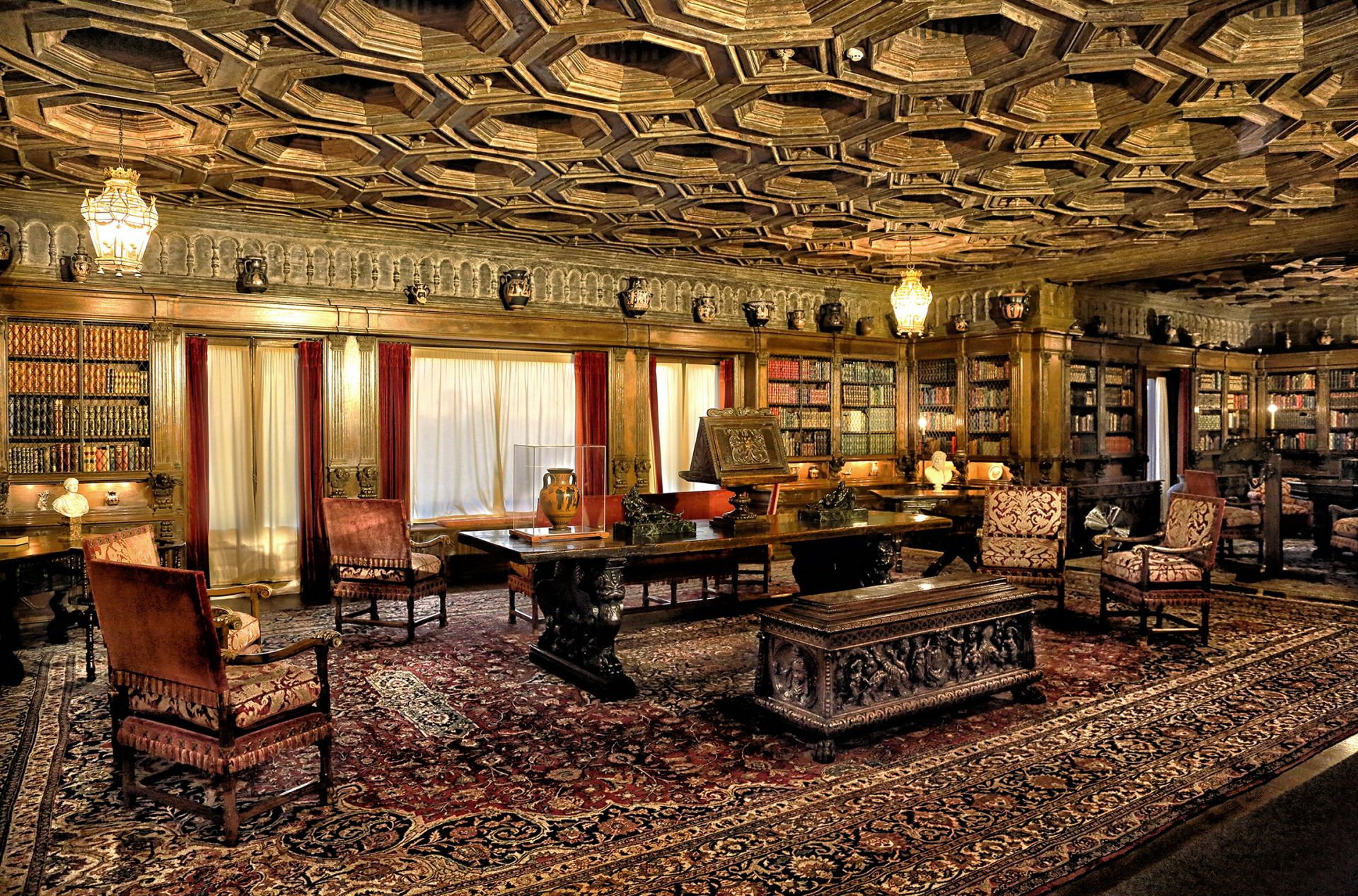 hearst castle interior