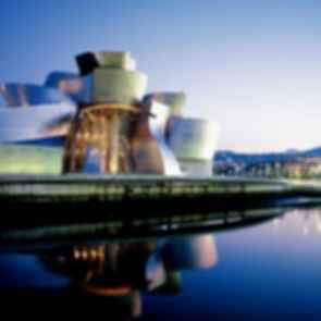 Guggenheim Museum Bilbao - Exterior at Night