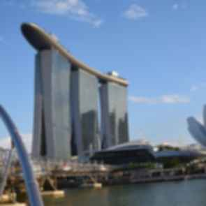 Marina Bay Sands Hotel Along The Helix and ArtScience Museum