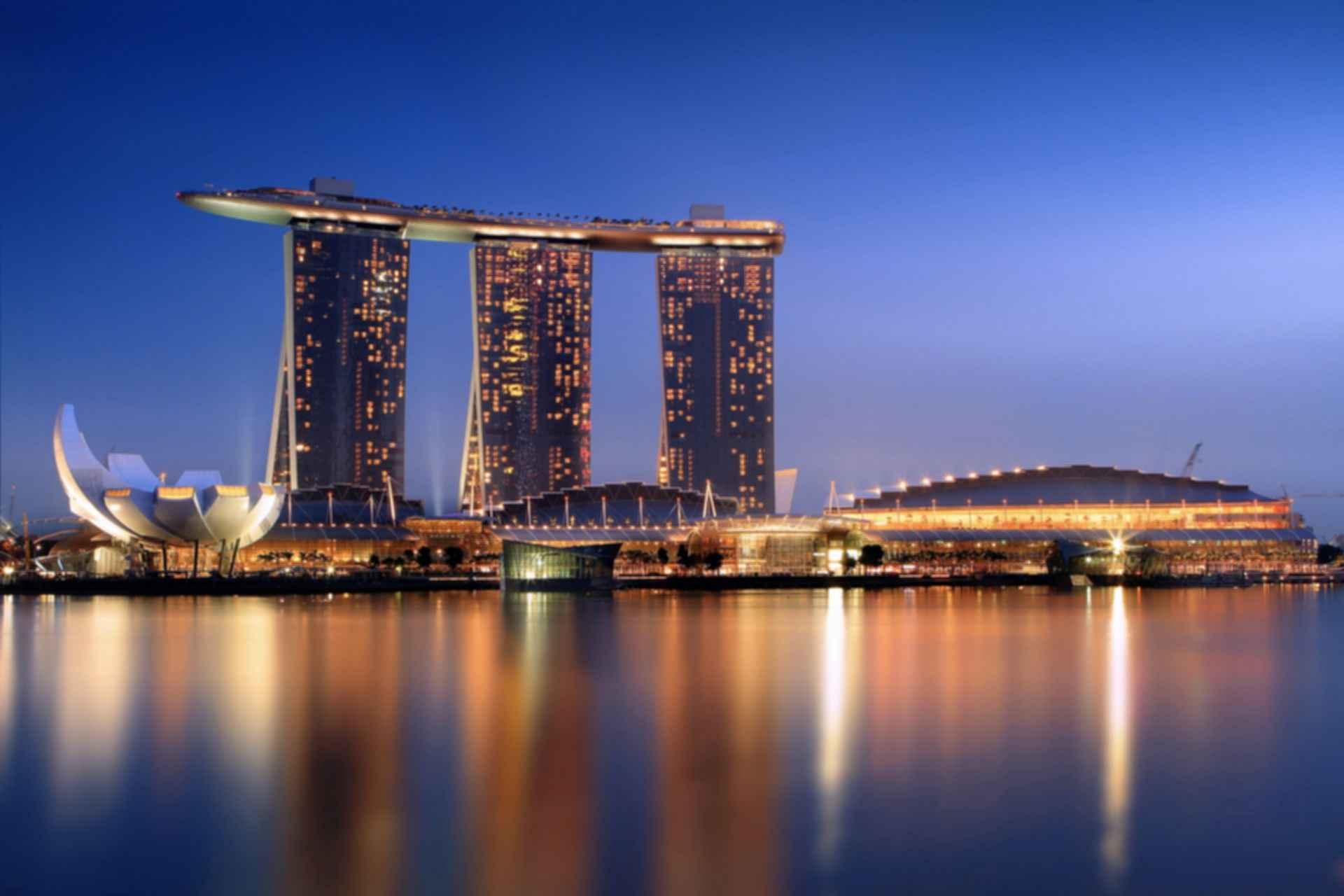 Marina Bay Sands Exterior At Night Modlar Com