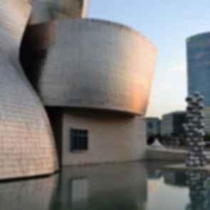 Guggenheim Museum Bilbao - Exterior with Pond