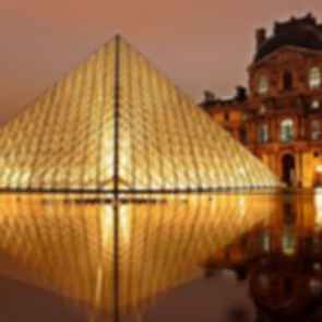 The Louvre Paris - Pyramid Exterior Reflection