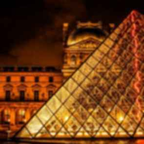 The Louvre Paris - Pyramid at Night