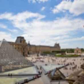 The Louvre Paris - Courtyard View